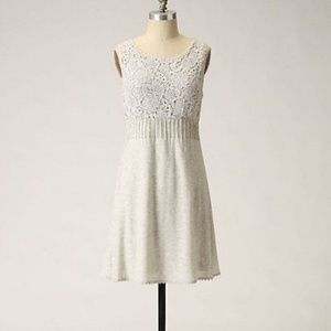 Anthro | Knitted & Knotted Snowdrop Shift Dress